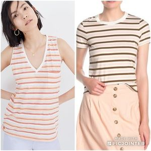 Madewell Cotton Striped T Shirt Bundle Size Medium